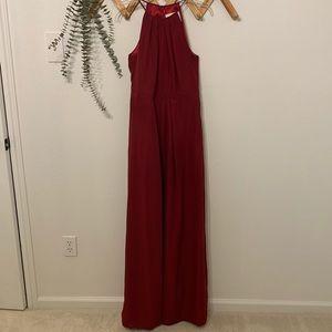 Wine/maroon bridesmaid dress